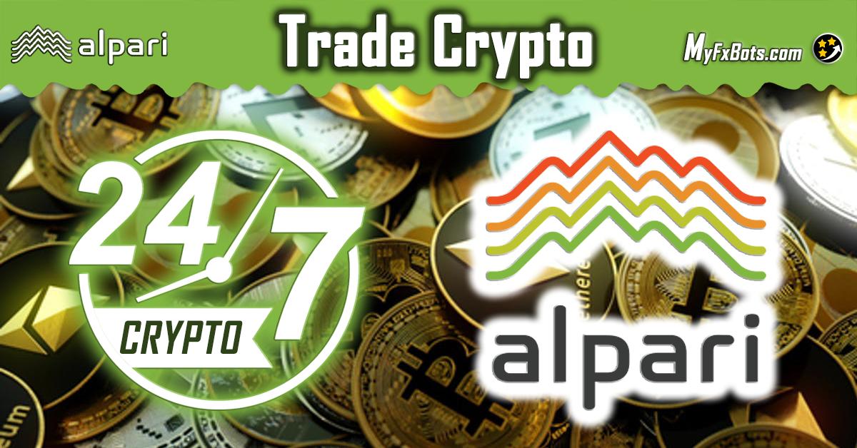 Trade Crypto 24/7 on Alpari