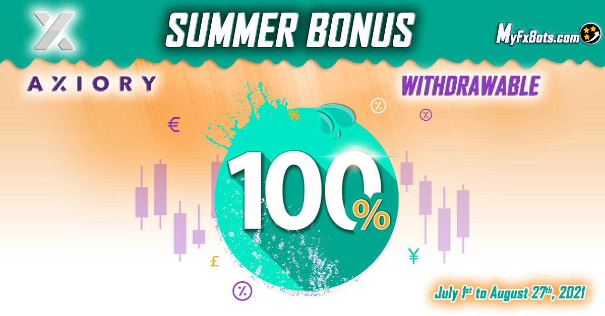 Axiory 100% Withdrawable Summer Bonus
