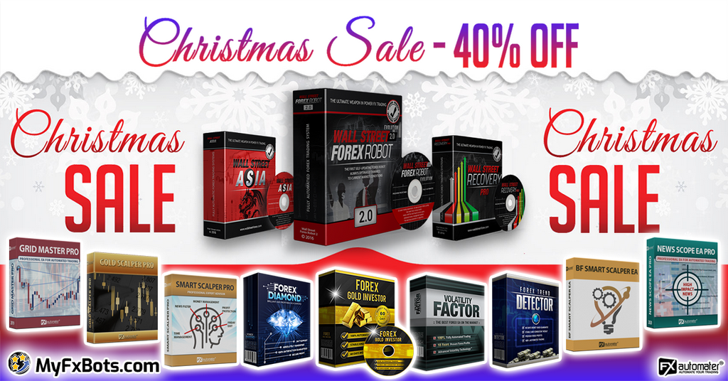 FXAutomater 2020 Christmas Special Offer of 40% OFF on All Forex Robots!