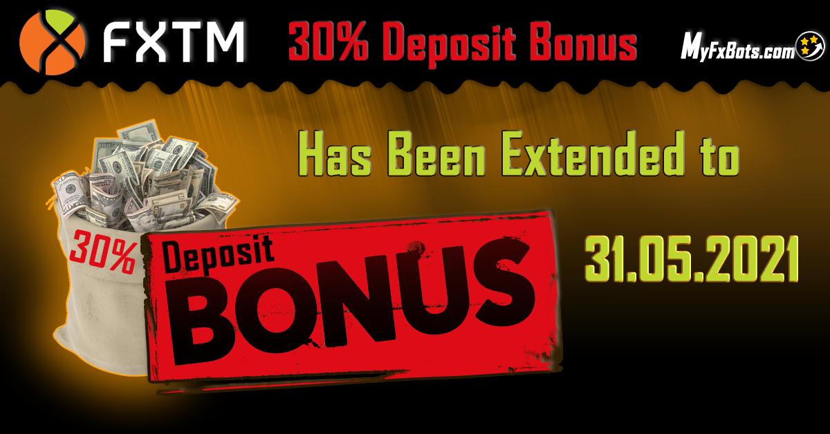 Great News! The FXTM 30% deposit bonus has been extended!